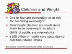children and weight
