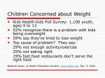 children concerned about weight