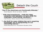 detach the couch