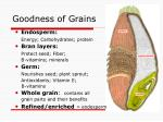goodness of grains