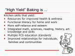 high yield baking is