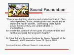 sound foundation