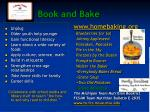 book and bake
