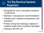 10 2 rig electrical systems equipment