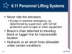6 11 personnel lifting systems