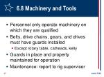 6 8 machinery and tools