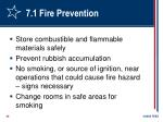 7 1 fire prevention