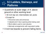 9 3 ladders stairways and platforms53