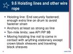 9 6 hoisting lines and other wire rope61