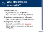 what standards are enforceable