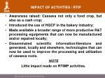 impact of activities rtip
