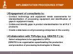implementation procedures rtimp