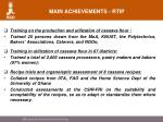 main achievements rtip
