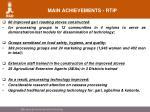 main achievements rtip7