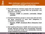 main challenges waiting ahead and actions planned by rtimp to tackle them