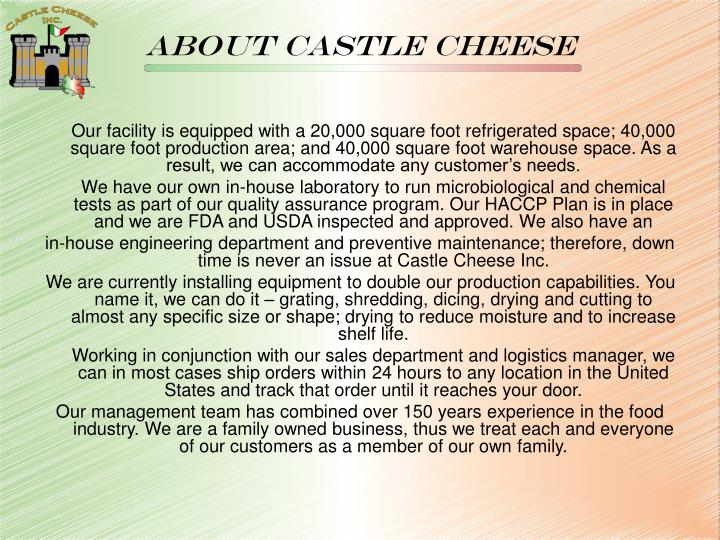 About castle cheese