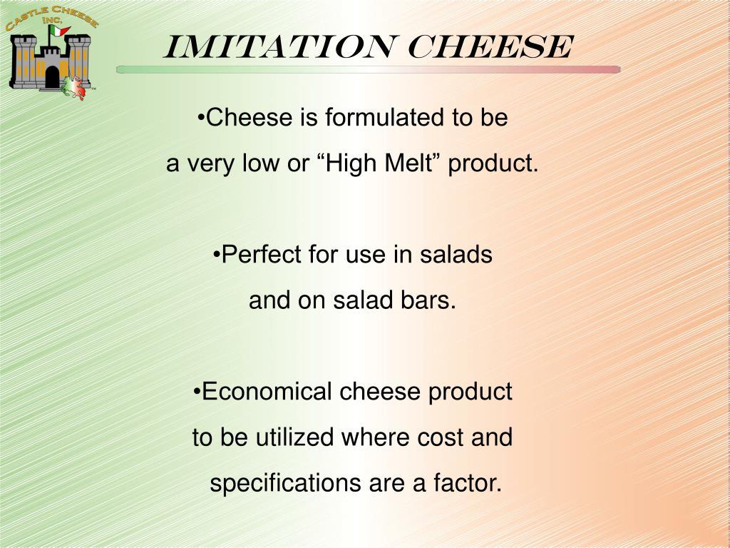 Imitation cheese