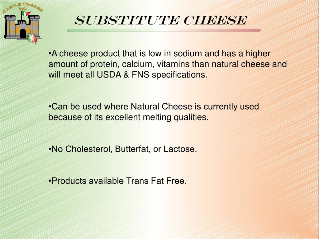 Substitute cheese