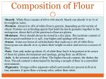 composition of flour