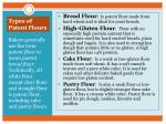 types of patent flours