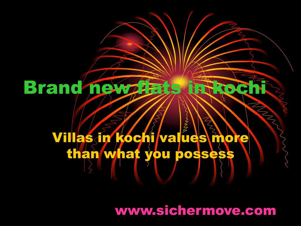 brand new flats in kochi l.