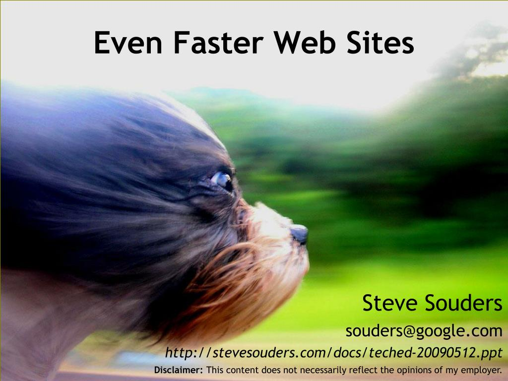 even faster web sites l.