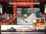 sydney christmas party cruises