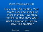 word problems 100
