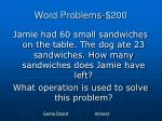 word problems 200