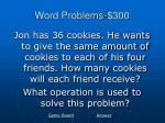 word problems 300