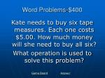 word problems 400