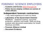 forensic science employers10