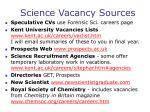 science vacancy sources