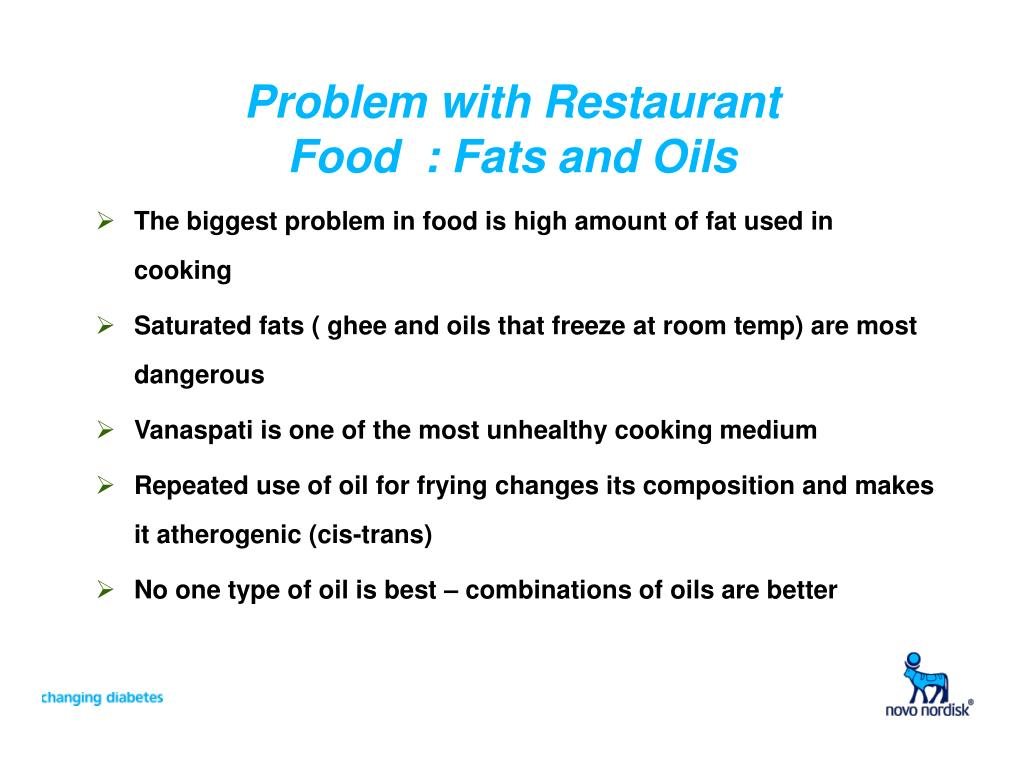 Problem with Restaurant Food  : Fats and Oils