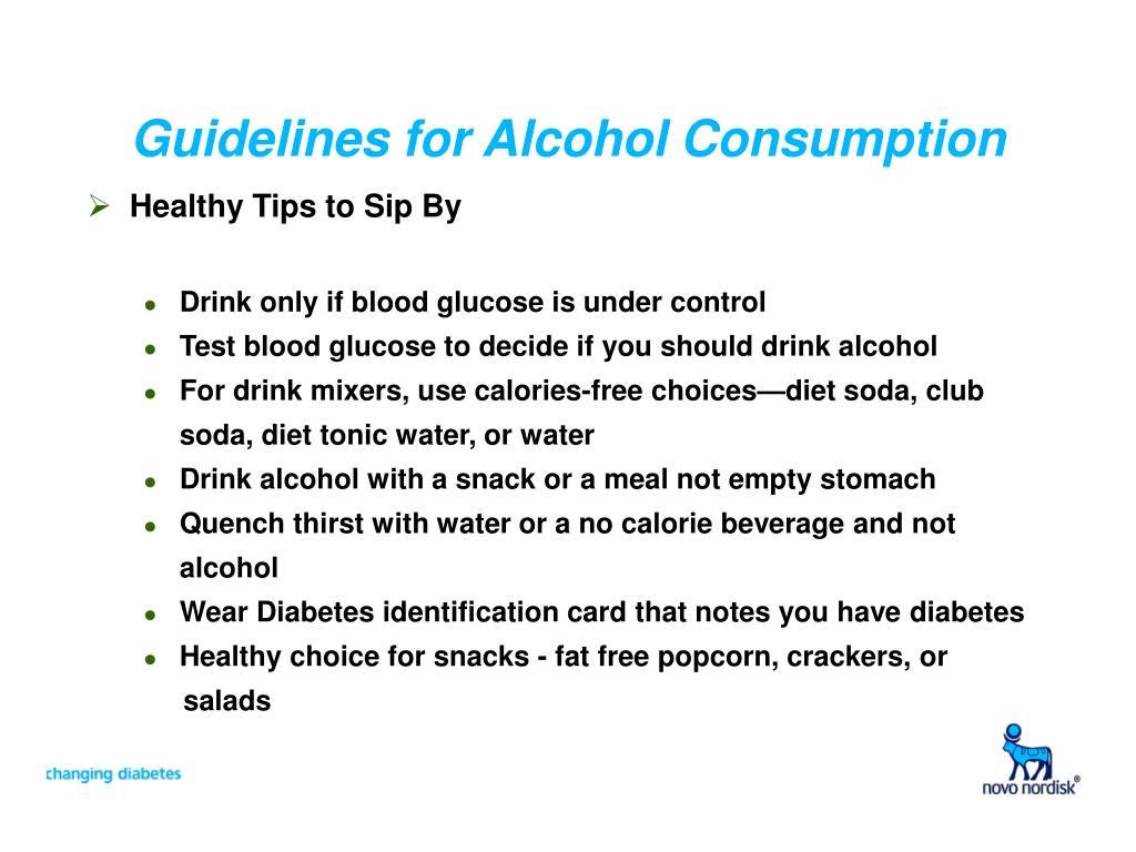 Guidelines for Alcohol Consumption
