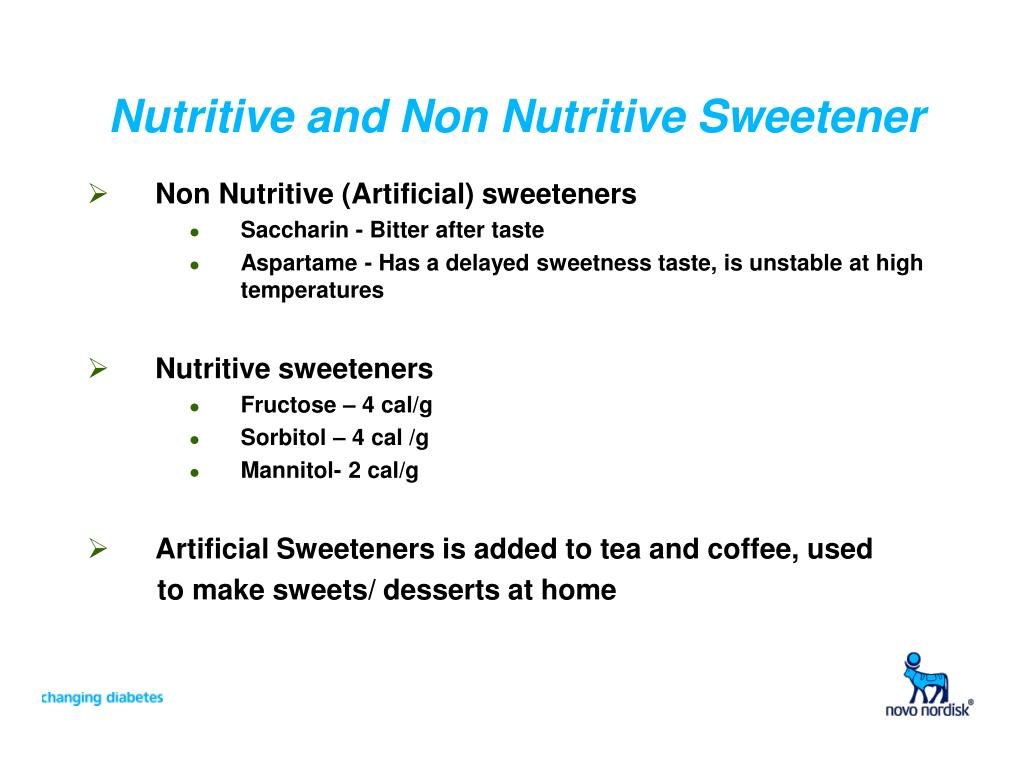 Nutritive and Non Nutritive Sweetener