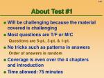 about test 1