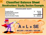 classified balance sheet stockholders equity section example79
