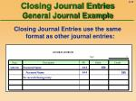 closing journal entries general journal example