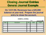 closing journal entries general journal example19