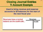 closing journal entries t account example