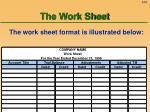 the work sheet53