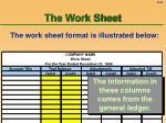 the work sheet54