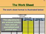 the work sheet55