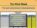 the work sheet56
