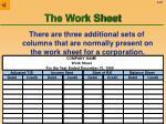 the work sheet57