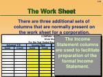 the work sheet58