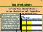 the work sheet59