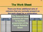 the work sheet60