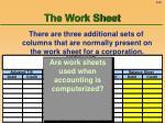 the work sheet61
